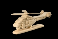 Helicopter 3D-Puzzle in natural wood - Dolfi