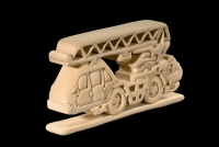 Fire Brigade Engine 3D-Puzzle in natural wood - Dolfi