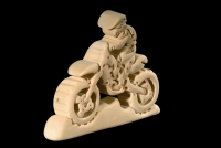 Cross Motorcycle 3D-Puzzle in natural wood - Dolfi
