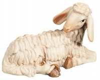 Lying sheep Nativity Raffaello - Dolfi Sculptures