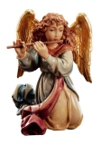Angel with flute Nativity Matteo - Dolfi Wood Carvings