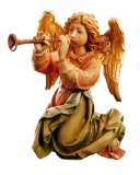 Angel with trumpet Nativity Matteo - Dolfi Wood Carvings