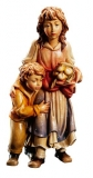Sheperdess with child Nativity Matteo - Dolfi Wood Carvings