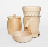 Set Electrical Household Mill LADY in stone pine wood