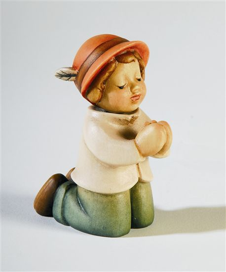 Kneeling Pastor Nativity Aurora - Dolfi Wood Sculptures