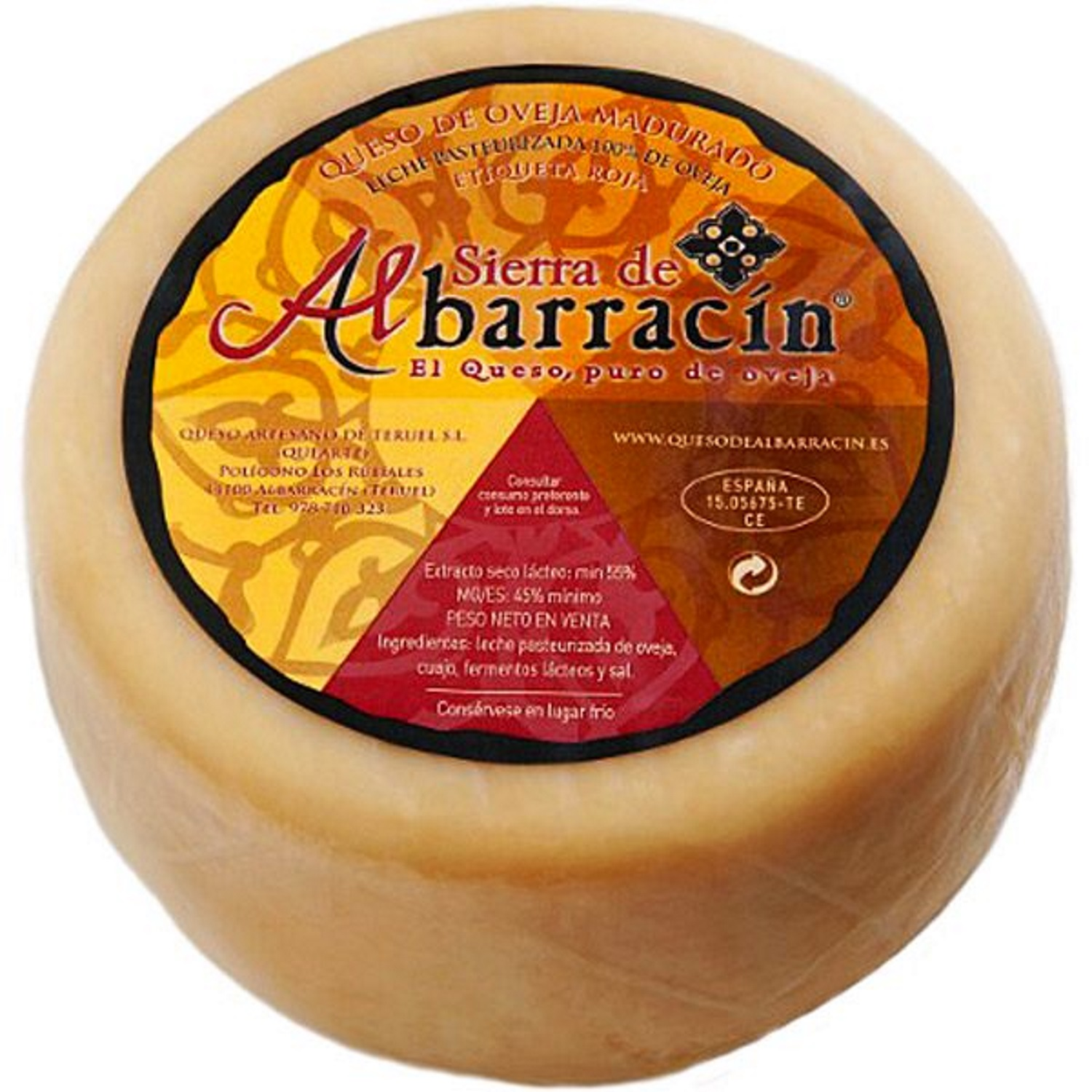 Semi-Cured Sheep Cheese 'Red Label' app. 2,9 kg - Sierra de Albarracin