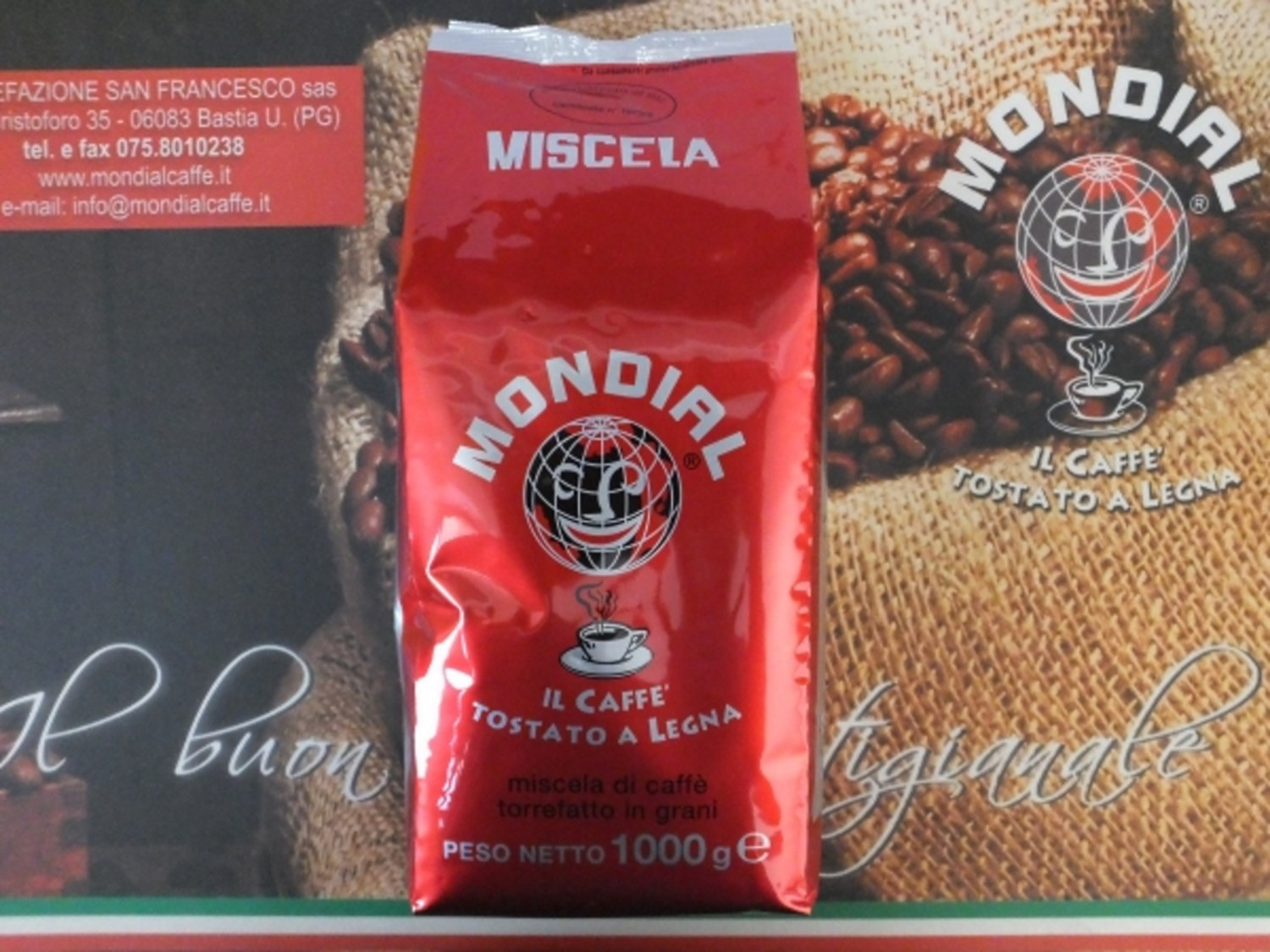 Coffee Mondial Espresso Beans 1 kg. Red / Rosso