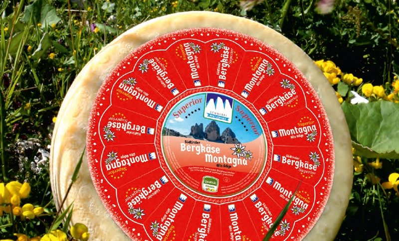 Mountain cheese Superior South Tyrol loaf appr. 10 kg. - Dairy Three Peaks