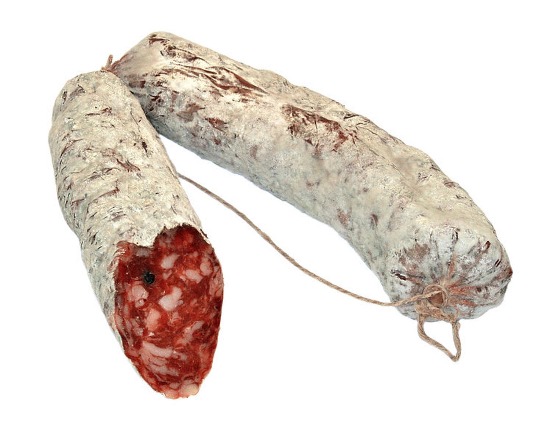 nonsberger salami j gerart luftgetrocknet ca 220 gr kofler speck ebay. Black Bedroom Furniture Sets. Home Design Ideas