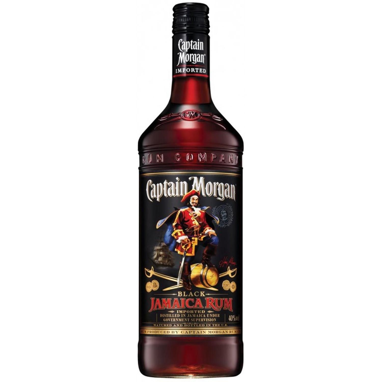 Rum Captain Morgan Black Label Jamaica 40 % 1 Lt. Rhum
