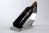 Wine bottle holder in stainless steel - H&H Shop
