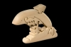 Dolphin 3D-Puzzle in natural wood - Dolfi