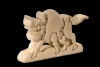 Buffalo 3D-Puzzle in natural wood - Dolfi