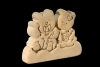 Teddy Couple 3D-Puzzle in natural wood - Dolfi