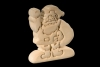 Santa Claus 3D-Puzzle in natural wood - Dolfi