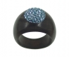 Wooden Ring with Swarovski Crystals Acqua - Dolfi