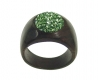 Wooden Ring with Swarovski Crystals Perido - Dolfi