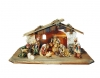 Nativity Set Matteo 12 pieces + stable - Dolfi