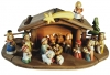 Nativity Set Aurora 20 pieces + stable - Dolfi