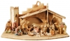 Nativity Set Leonardo 20 pieces + stable - Dolfi Carvings