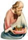 Kneeling wise man Nativity Leonardo - Dolfi Wood Carving