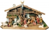 Nativity Set Raffaello 22 pieces + stable - Dolfi Carvings