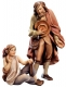 Sheperd with boy Nativity Raffaello - Dolfi Sculptures