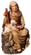 Sitting Sheperd with sheep Nativity Matteo - Dolfi Carvings