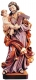 Wood Sculpture Saint Joseph with child coloured - Carvings Dolfi
