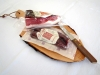 Cutting board + knife with South Tyrolean Specialities Sexten