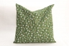 Cushion 28 x 28 cm - green flowers/hearts -  with biological spelt - Feichter Bernhard