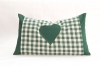 Cushion with pillowcase - greeen with heart- 20 x 35 cm with biological herbs- Feichter Bernhard