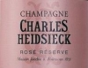 Champagne Rosé Reserve - Charles Heidsieck